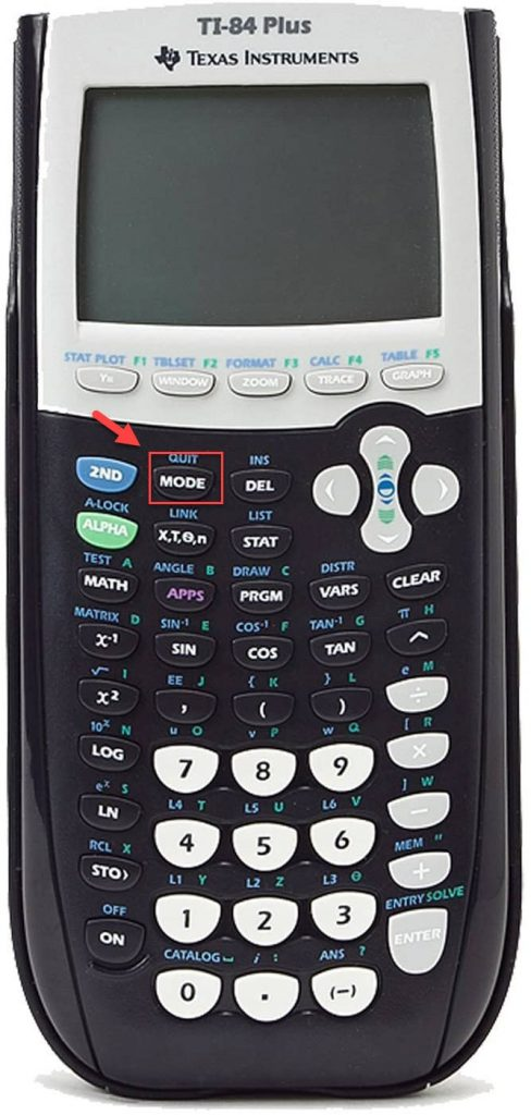 TI 84 calculator mode button