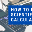 How to Use Scientific Calculator text overlay on blue box