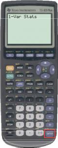 TI 83 calculator enter button