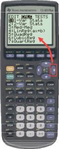 TI 83 calc tab